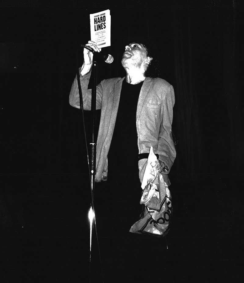 Ian Dury. reading from Hard Lines